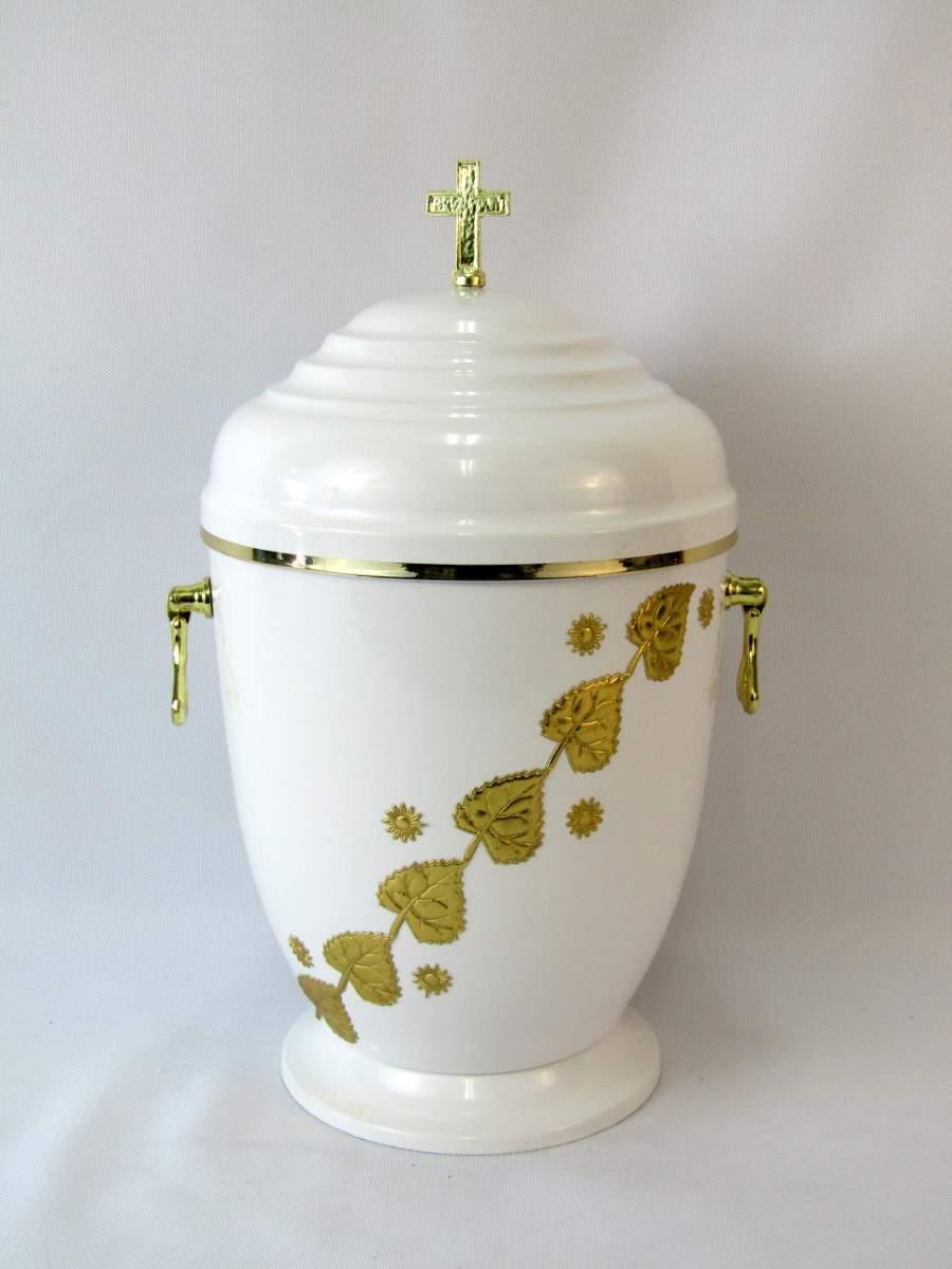 urna złote liście