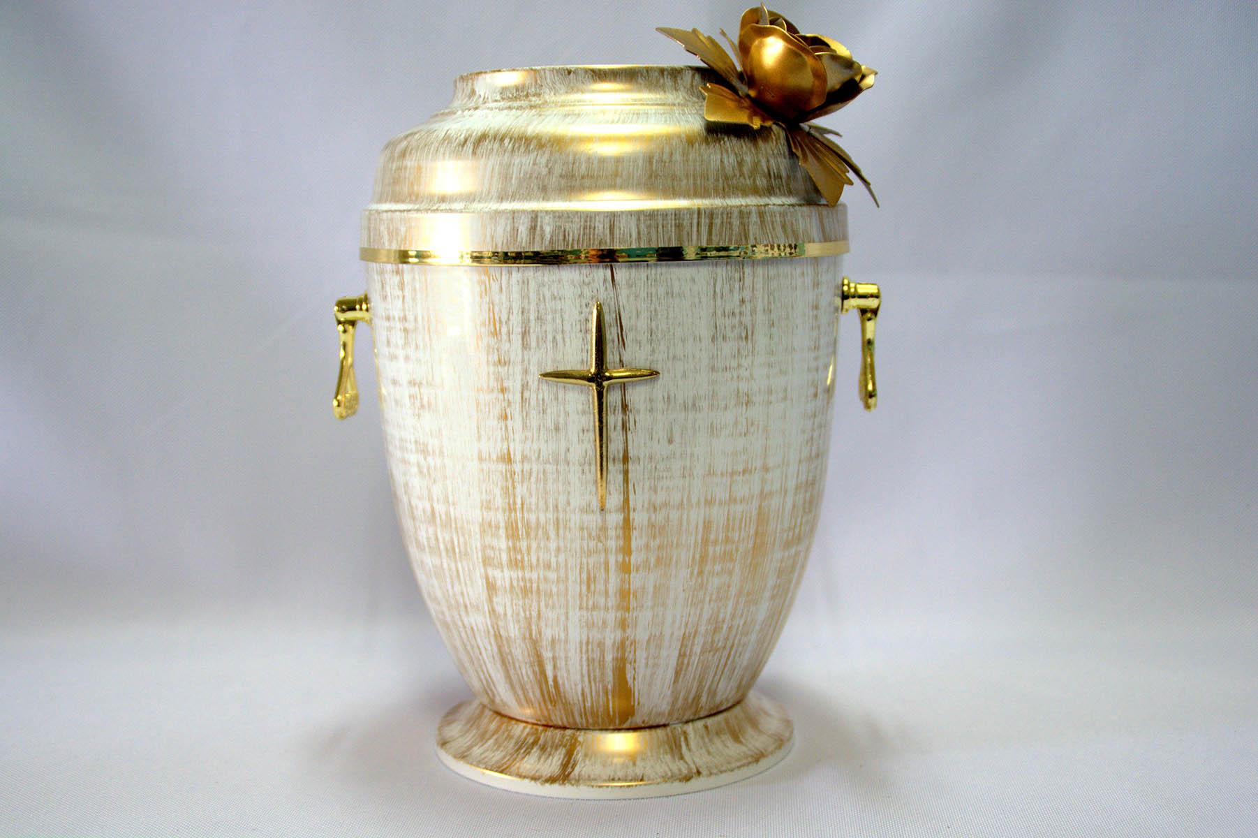 jasna urna z dekoracją