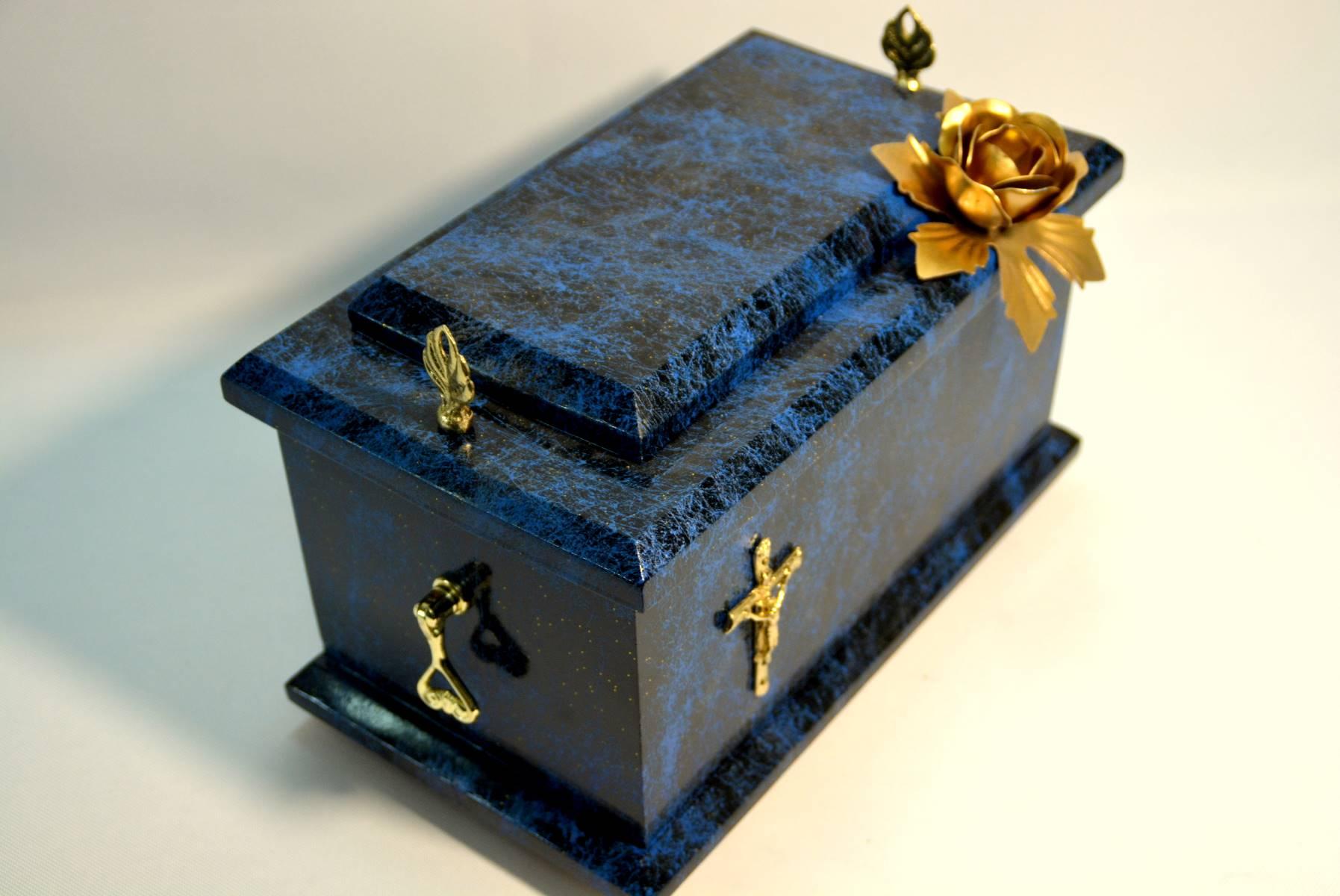 niebieska urna premium