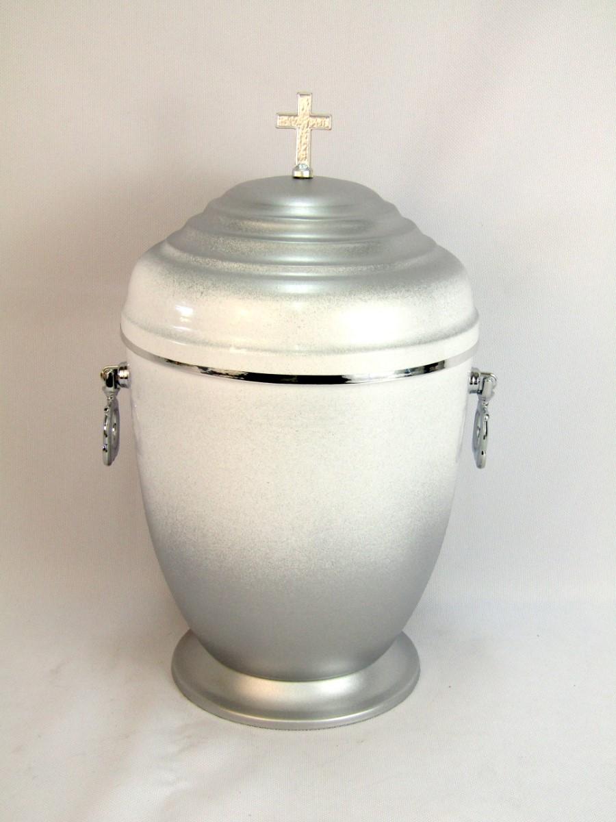Urna w kolorze srebrnym