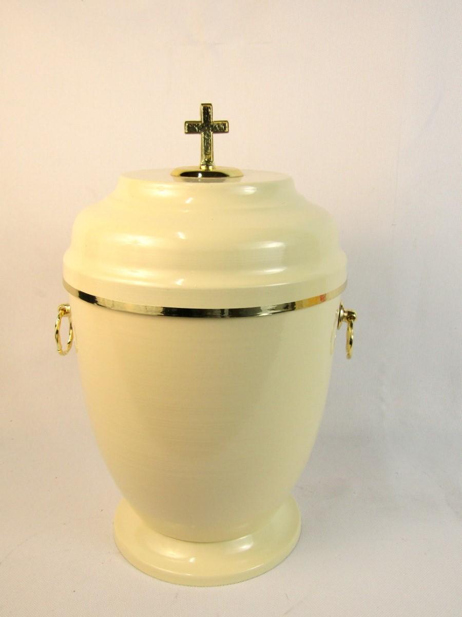 Urna metalowa kremowa