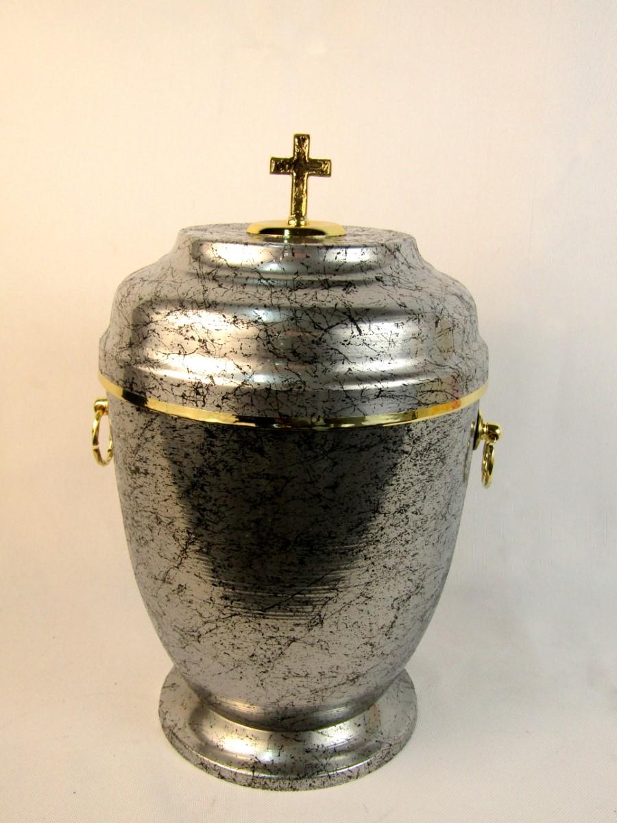 Urna metalowa srebrna
