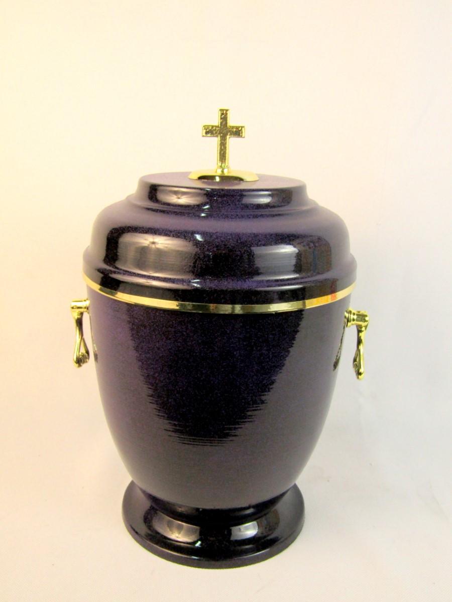 Urna metalowa fioletowa