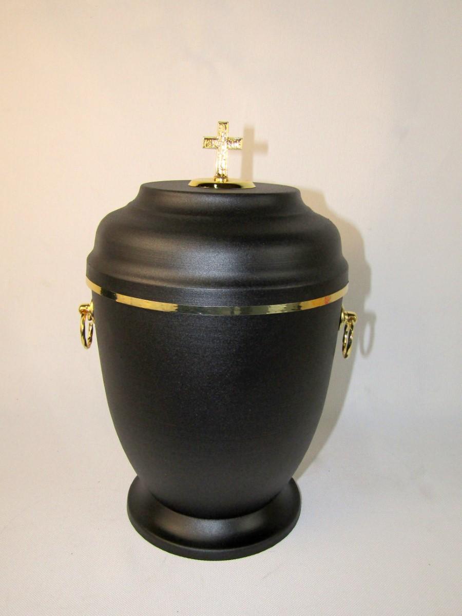 Urna metalowa czarna