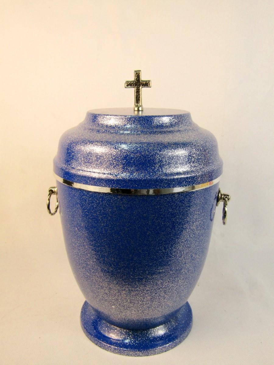 Urna metalowa niebieska
