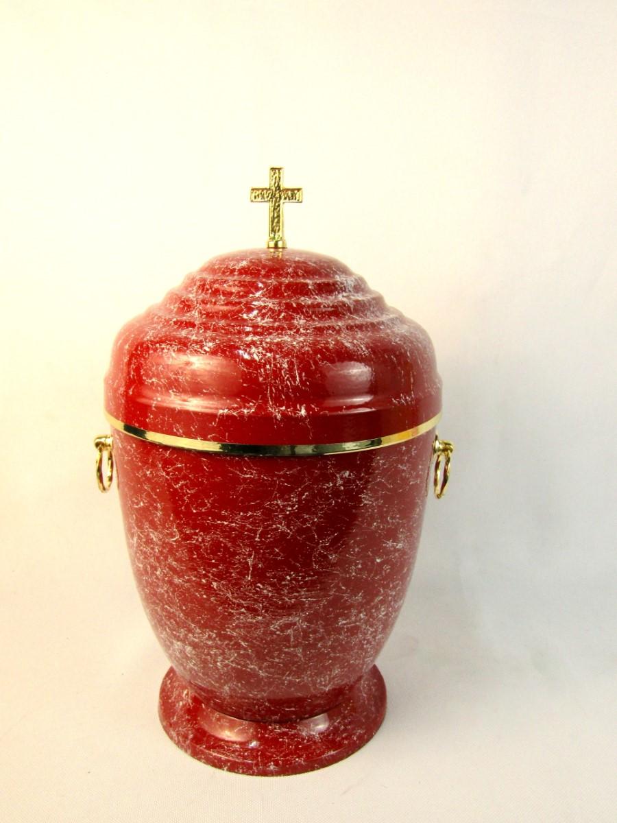 Czerwona urna metalowa