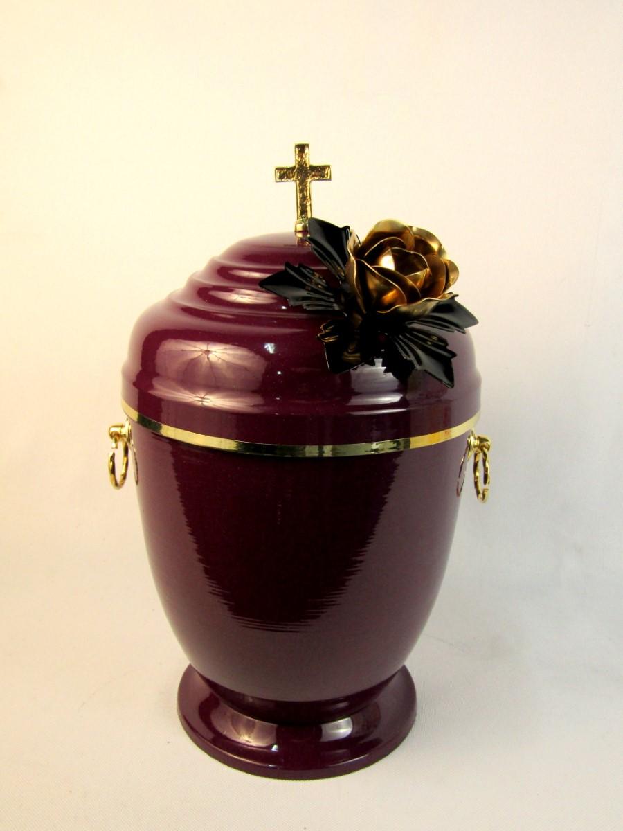 bordowa urna